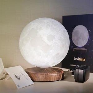 Lamp Moon-Lights Levitation-Rotation 3d-Print Magnetic Maglev Creative 16-Colors LED