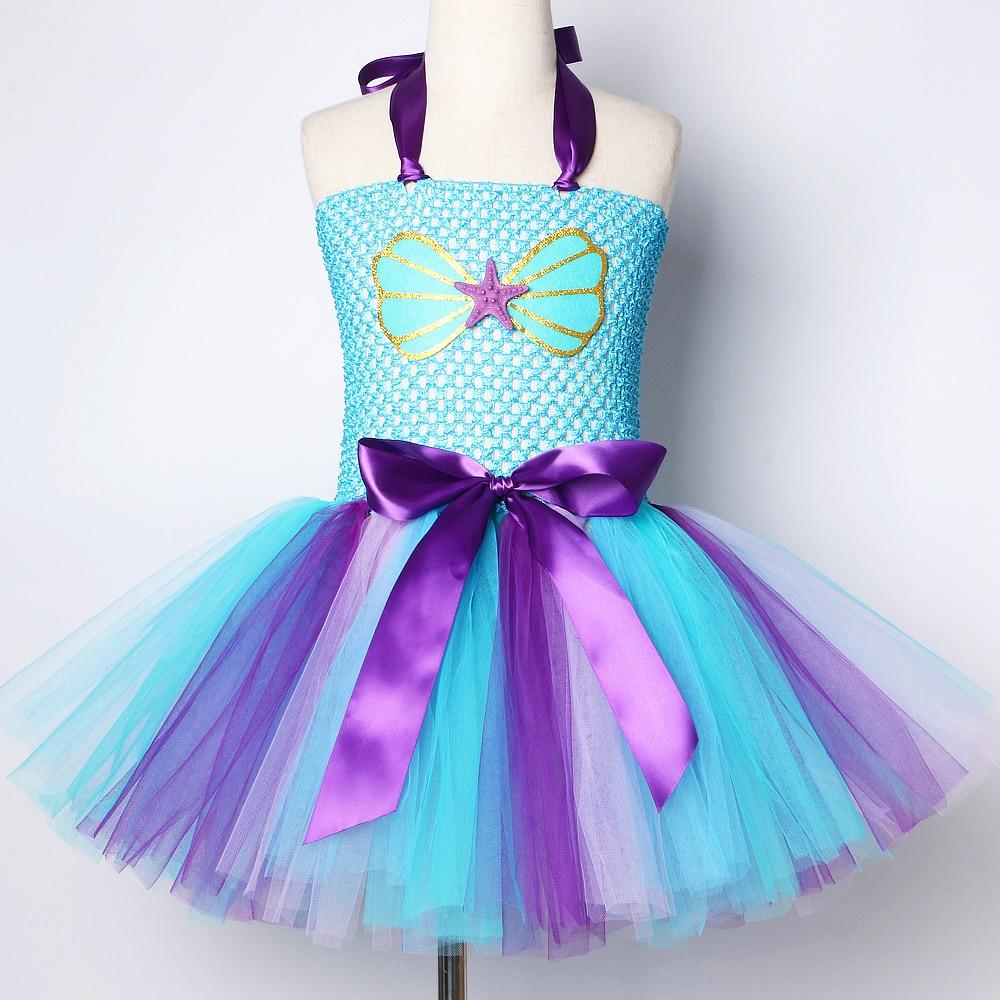 Toddler Little Mermaid Dress Girl Kids Halloween Costume Girls Princess  Tutu Dresses for Birthday Party Gift for 7-72 Years Old
