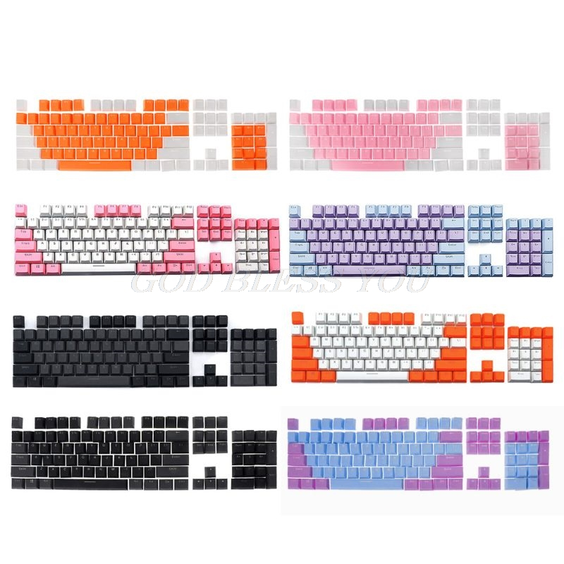 Translucent Double Shot PBT <font><b>104</b></font> <font><b>KeyCaps</b></font> Backlit For Cherry MX Keyboard Switch Drop Shipping image