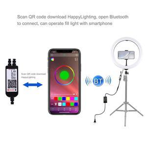 Image 3 - PULUZ 12 인치 링 라이트 삼각대 스탠드 전화 홀더 Dimmable RGB LED Selfie 링 조명 및 원격 사진 및 YouTube