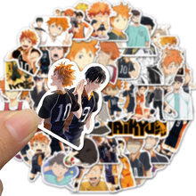 10/52pcs Pack Volleyball Japan Cartoon Haikyuu Anime Stickers Laptop Skateboard Graffiti Sticker Journal Kids Decals Phone Car