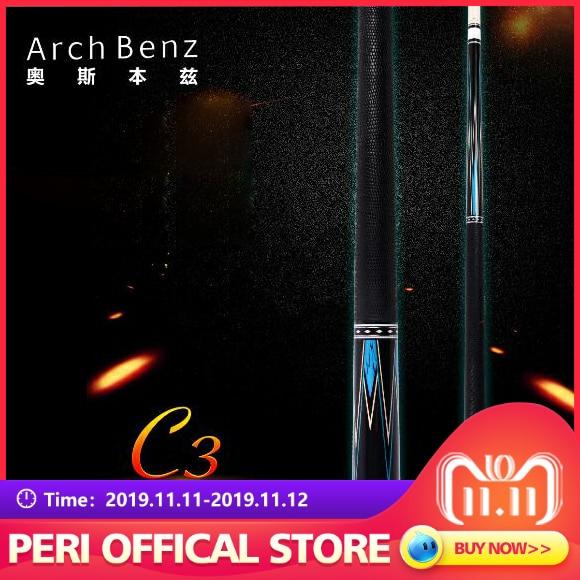 Bilhar profissional original do comprimento da ponta 149cm da cue 13mm da piscina do bilhar do benz c3 do arco com presentes excelentes
