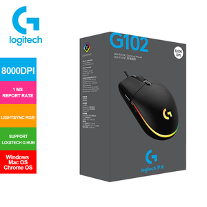 2020 Newest Logitech G102 LIGHTSYNC Gaming Mouse with Streamer Effect 8000 DPI New Upgrade 2 Generation for Laptop PC Mouse Game