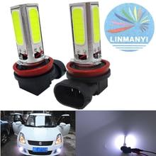 цена на 2PCS*High Power LED Lamp PS19W PGJ19-3 H11 H8 COB 20W DRL Day Driving Head Light Fog Bulb White Xenon Super Bright Car Styling