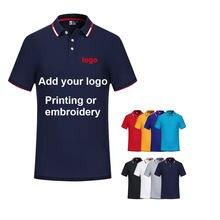 Хлопковая рубашка-поло с текстовым принтом на заказ, Новинка лета 2021, мужские повседневные рубашки с вышивкой или напечатанным логотипом