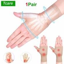 Rękawice kompresyjne Tcare działa przeciwbólowo z reumatoidalnego tunelu nadgarstka do pisania na komputerze, wsparcie dla rąk i stawów
