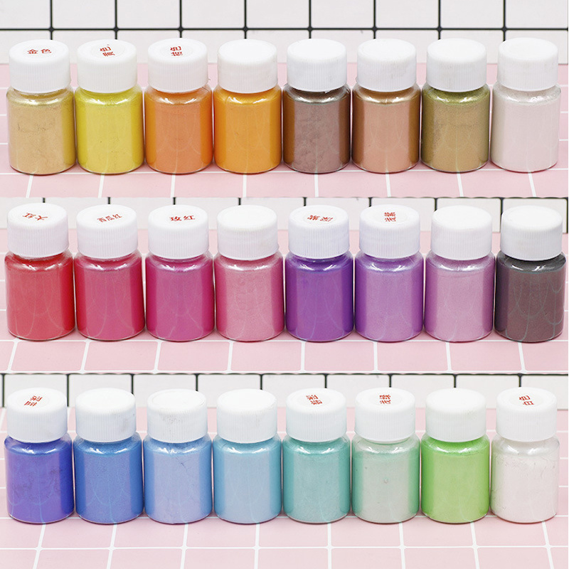 9/12/24 Colors 10g /Bottle Powder Resin Dye Pearl Pigment Filler Slime Mud Pearl Powder Filler