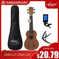 Aiersi marca 21 pollici ukulele mogano Soprano gecko ukulele strumento musicale chitarra