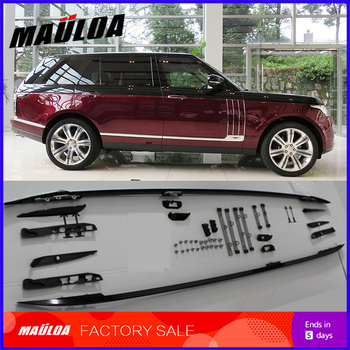 Car accessories 1 Pair Aluminium Alloy screw install side rail bar roof rack for Range rover Vogue 2013 2014 2015 2016 2017