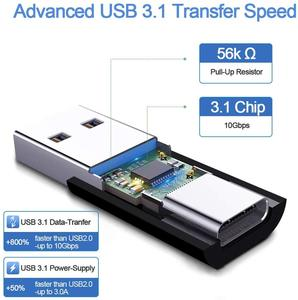 Image 3 - USB 3.1 Male to Type C Female Adapter,USB A to USB C 3.1 GEN 2 Converter,Support Double Sided 10Gbps Charging & Data