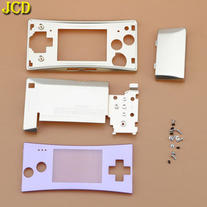 Image 2 - JCD 4 in 1 Metal Housing Shell Case for Nintend GameBoy Micro GBM Front Back Cover Faceplate Battery Holder w/ Screw