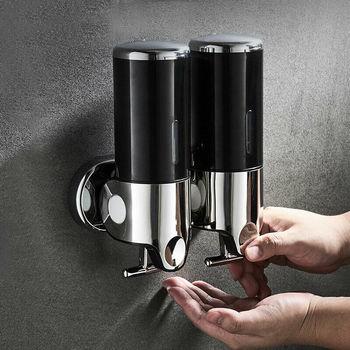 Liquid Soap Dispenser Wall Mounted 500 ml Plastic Shampoo Shower Gel Dispensers Hand Washing Home Kitchen Bathroom Accessories shower gels dove cream shower gel for plum and sakura flowers 250 ml beauty