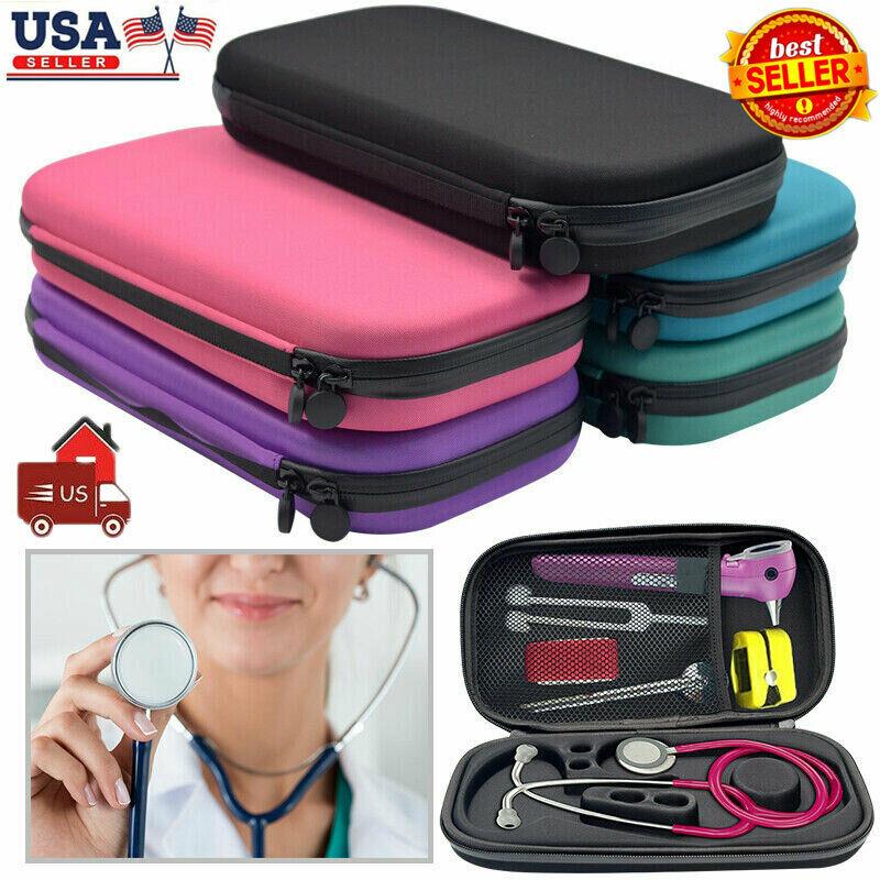 US STOCK Storage Box Stethoscope Travel Case EVA Medical Carry Organizer Bag