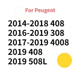 Image 2 - 2Pcs Auto Styling für Peugeot Logo 408 2019 308 4008 508L 2019 ABS Auto Kühlergrill Abzeichen Hinten Emblem aufkleber Dekoration