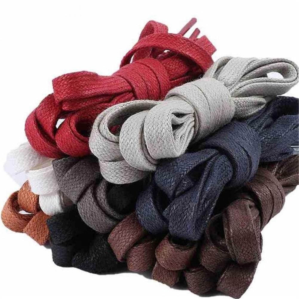 70-150cm Multi-Color Waxed Waterproof Flat Shoelaces For Sneakers Durable Women Men's Shoe Laces Shoe Strings Cordones