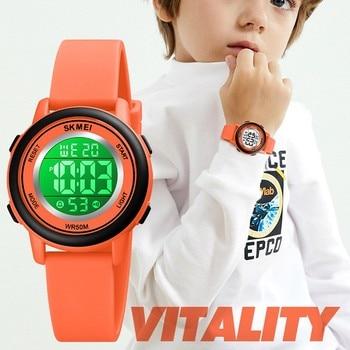 SKMEI Kids Watches Fashion Luxury Brand Children Watch Chrono Digital Wristwatch Led Light Sport Boys And Girls Clock For Gift