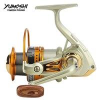 고속 yumosh 바퀴 스피닝 낚시 릴 6.3: 1 13 + 1bb 2000-7000 시리즈 스피닝 휠 타입 sea rock lure fishing reels kn