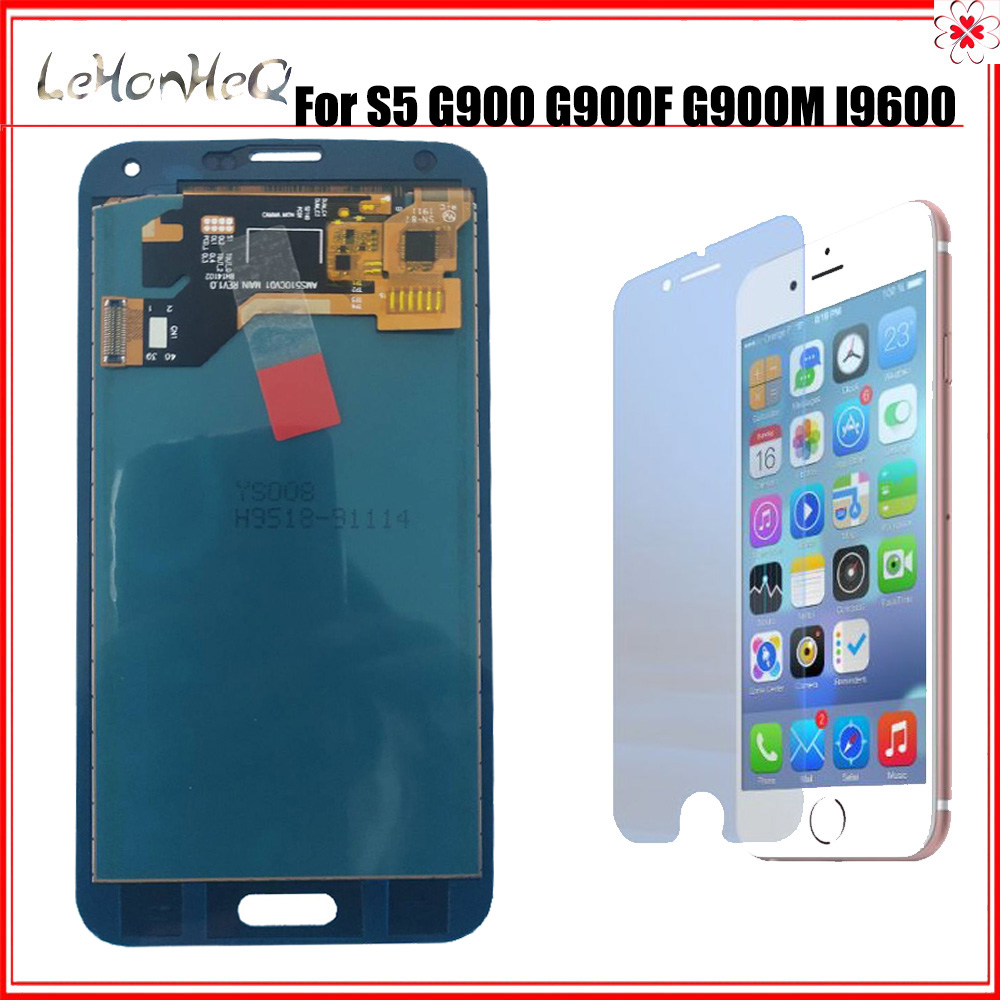 LCD For SAMSUNG Galaxy S5 i9600 <font><b>G900</b></font> G900F G900A LCD <font><b>Display</b></font> Digitizer Touch Panel Screen Assembly For samsung S5 <font><b>Display</b></font> image