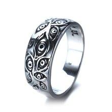 Moda popular feminino anel universal requintado retro punk olho de vingança demônio olho festa de aniversário presente jóias atacado