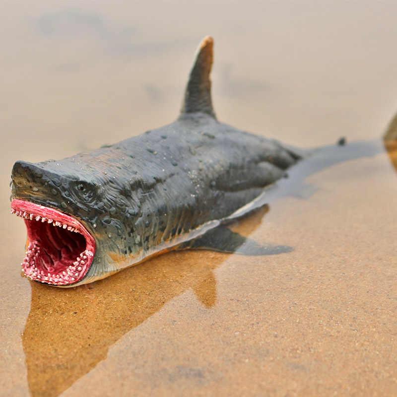 Oenux Savage Marine Sea Life megaodon figurka klasyczne zwierzęta oceaniczne Big Shark Fish Model kolekcja PVC zabawka dla dzieci prezent