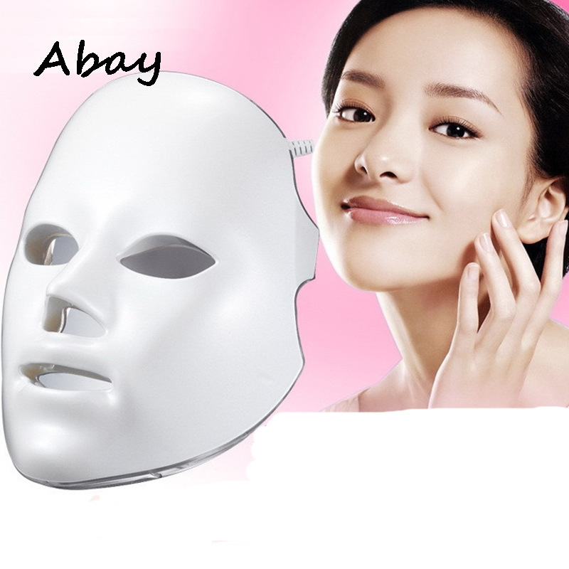 Abay Facial 7 Colors LED Actual Effect Beauty Mask Wrinkle Removal Electric Device Skin Rejuvenating Beauty Anti-Aging Therapy