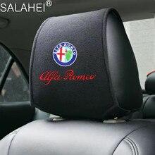 Car Headrest Cushion Cover Neck Backrest For Alfa 147 156 159 Berlina Brera Mito Giulietta Giulia Stelvio Mito Milano Romeo