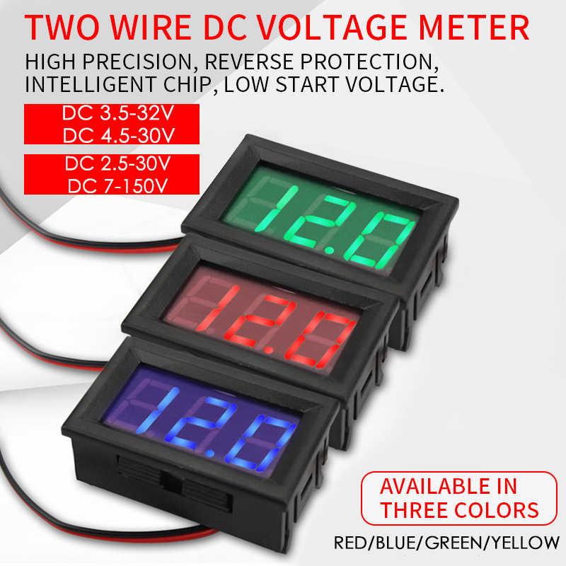 مقياس تيار مستمر 200 فولت 10A LCD الجهد الرقمي الحالي متر فاحص قابل للتعديل مقياس التيار الكهربائي الفولتميتر لوحة فولت أمبير كاشف ثنائي led العرض
