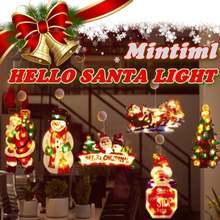 Светодиодный светильник mintiml hello santa на присоске окно