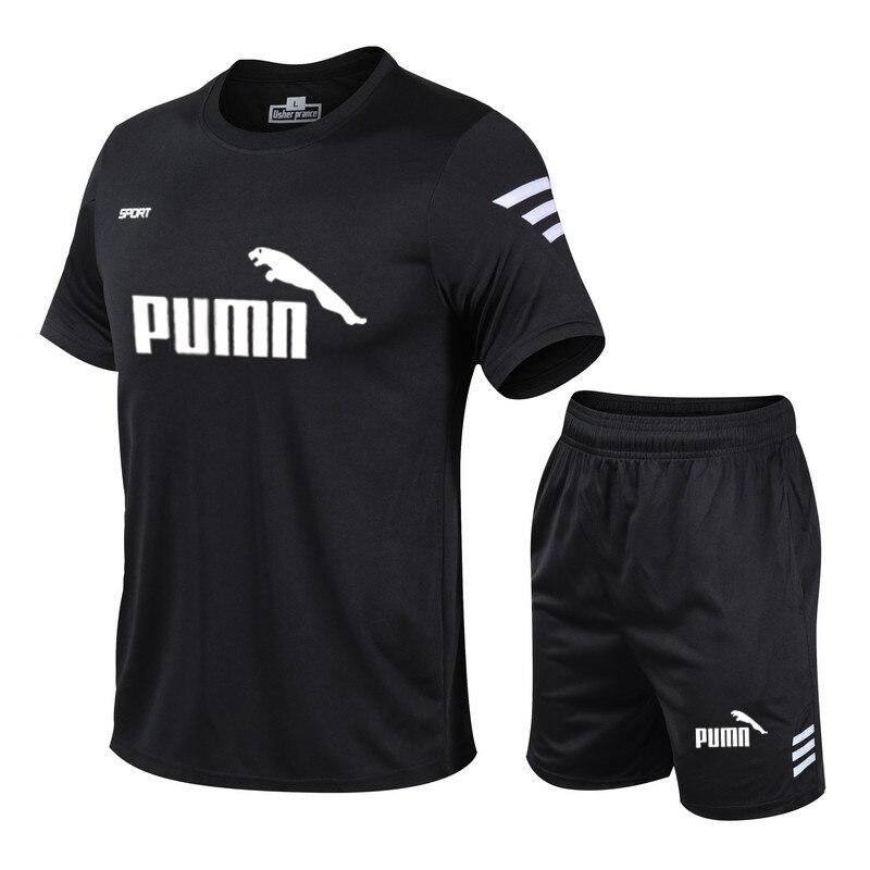 New running T-shirt sports gym gym T-shirt short sleeve football basketball tennis shirt quick-drying fitness sports suit casual