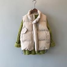 Женский зимний жилет, пальто с воротником-стойкой женский модный хлопковый жилет, теплый женский топ, жилет Chaleco Mujer Gilet Casaco Feminino