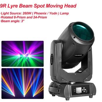 цена на 2020 NEW Beam Spot Moving Head Light 260W 9R Sharpy Robe Wash Gobo Stage Effect Lights DJ Disco Stage DMX Professional Projector