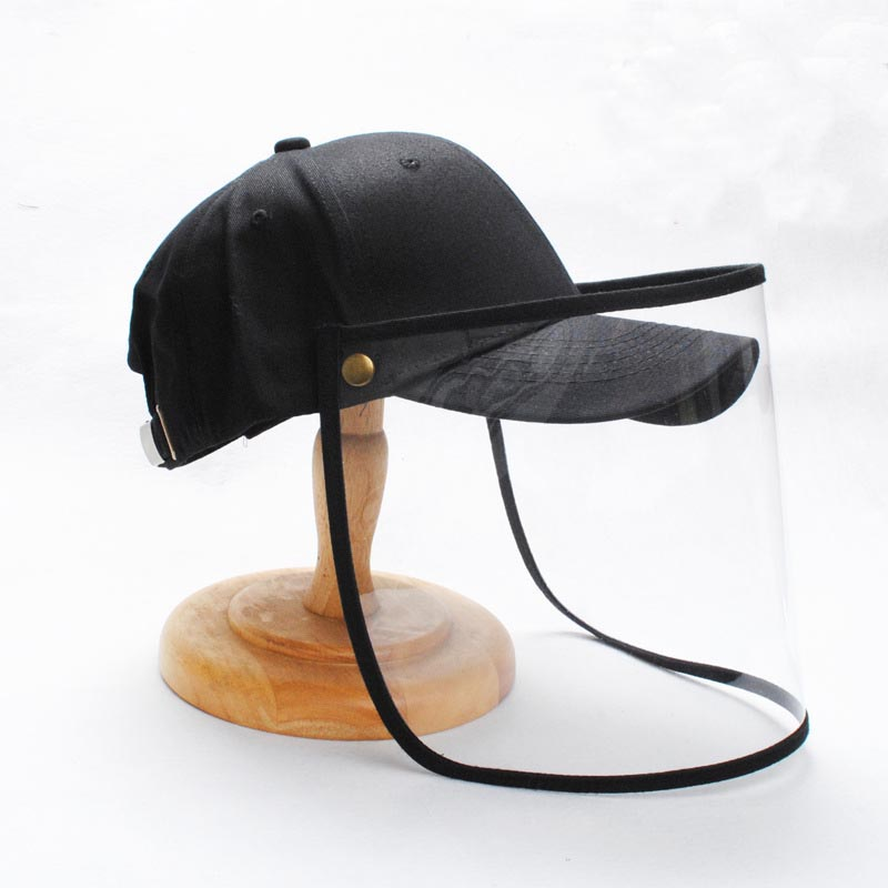 Safety Anti Fog Protection Mask Snapback Hat Anti Flu Spittle And Dust Adjustable Baseball Caps Detachable For Face Mouth
