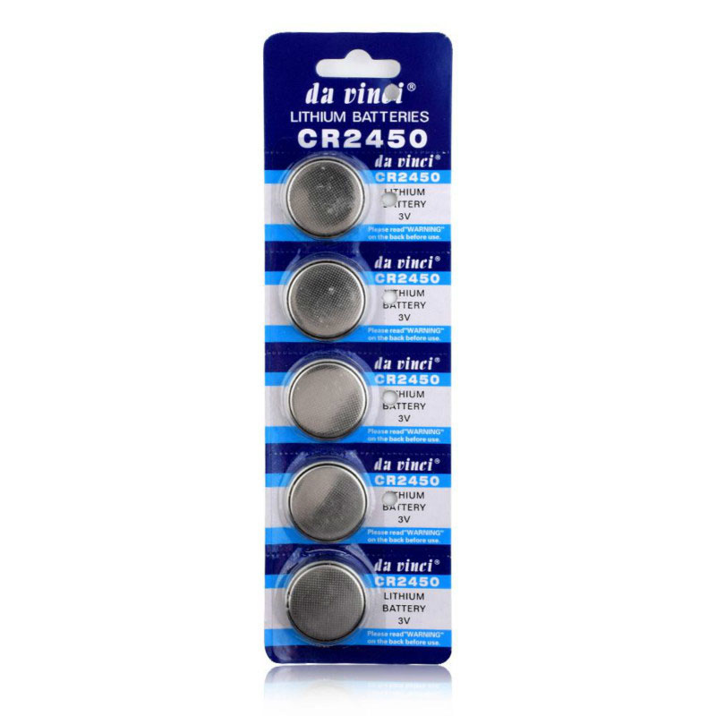 5pcs/pack CR2450 Cell Coin Lithium Battery <font><b>3V</b></font> Button Batteries KCR2450 5029LC LM2450 <font><b>CR</b></font> <font><b>2450</b></font> for Watch Electronic Toy Remote image