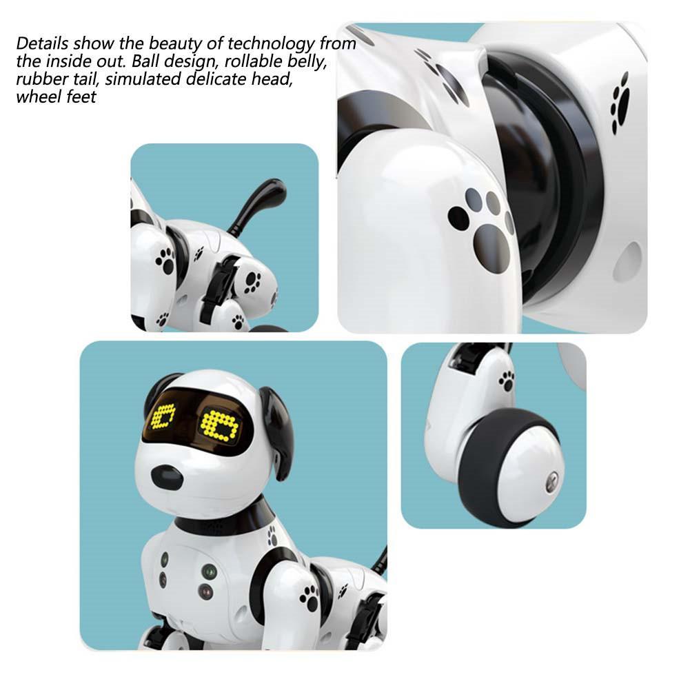 inteligente robô cachorro crianças brinquedo inteligente falando