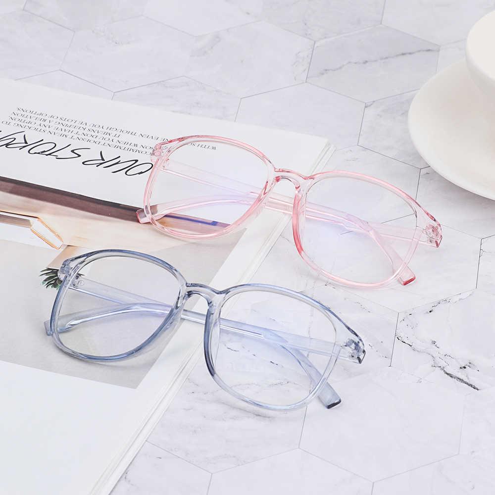 1Pcs Hot Vintage Bulat Jelas Kacamata Wanita Transparan Lensa Kacamata Bingkai Wanita Optik Kacamata Bingkai Kacamata Pria Unisex Hadiah 2019