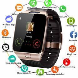 Bluetooth relógio inteligente dz09 smartwatch tf sim câmera masculino feminino esporte relógio de pulso para samsung huawei xiaomi android telefone relógio masculino