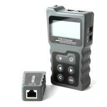 Çok fonksiyonlu LCD ağ kablosu test cihazı akım test cihazı kablo test cihazı ile PoE kontrol Inline PoE gerilim Rj45 Lan test araçları