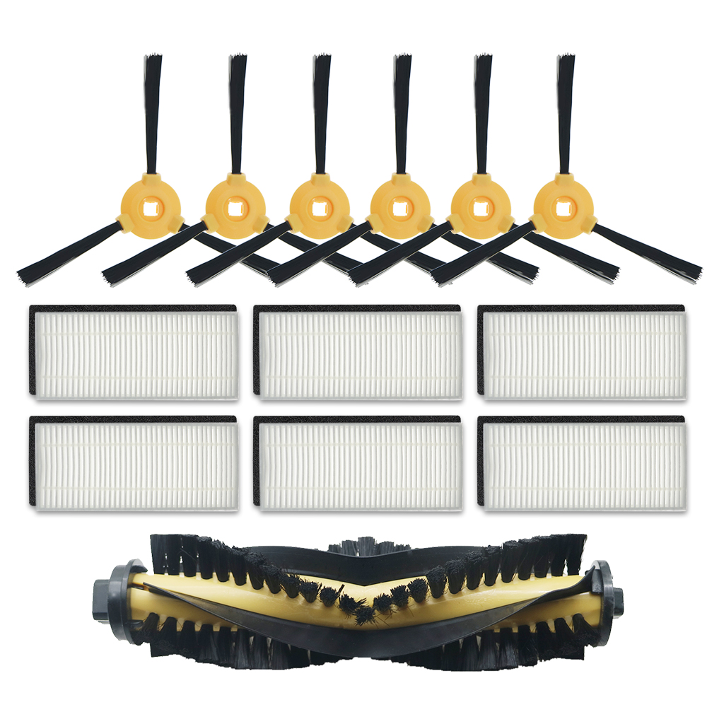 Hot Sale Replacement Accessory Kit Filter Main Brush Side Brush For Ecovacs DEEBOT N79S N79 Robotic Vacuum Cleaner Filter+Brush
