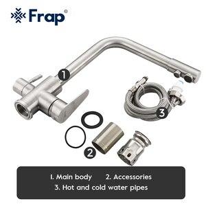 Image 5 - Frap クラシックキッチン蛇口濾過された水で 304 ステンレス鋼浄水器デュアルハンドル飲料タップ冷温 F4348