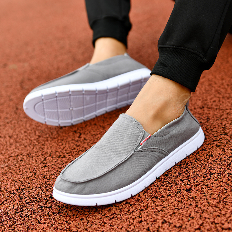 Ventilation linen mens shoes casual fashion low cut flat shallow canvas