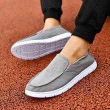 Ventilation linen mens shoes casual fashion low cut flat shallow canvas