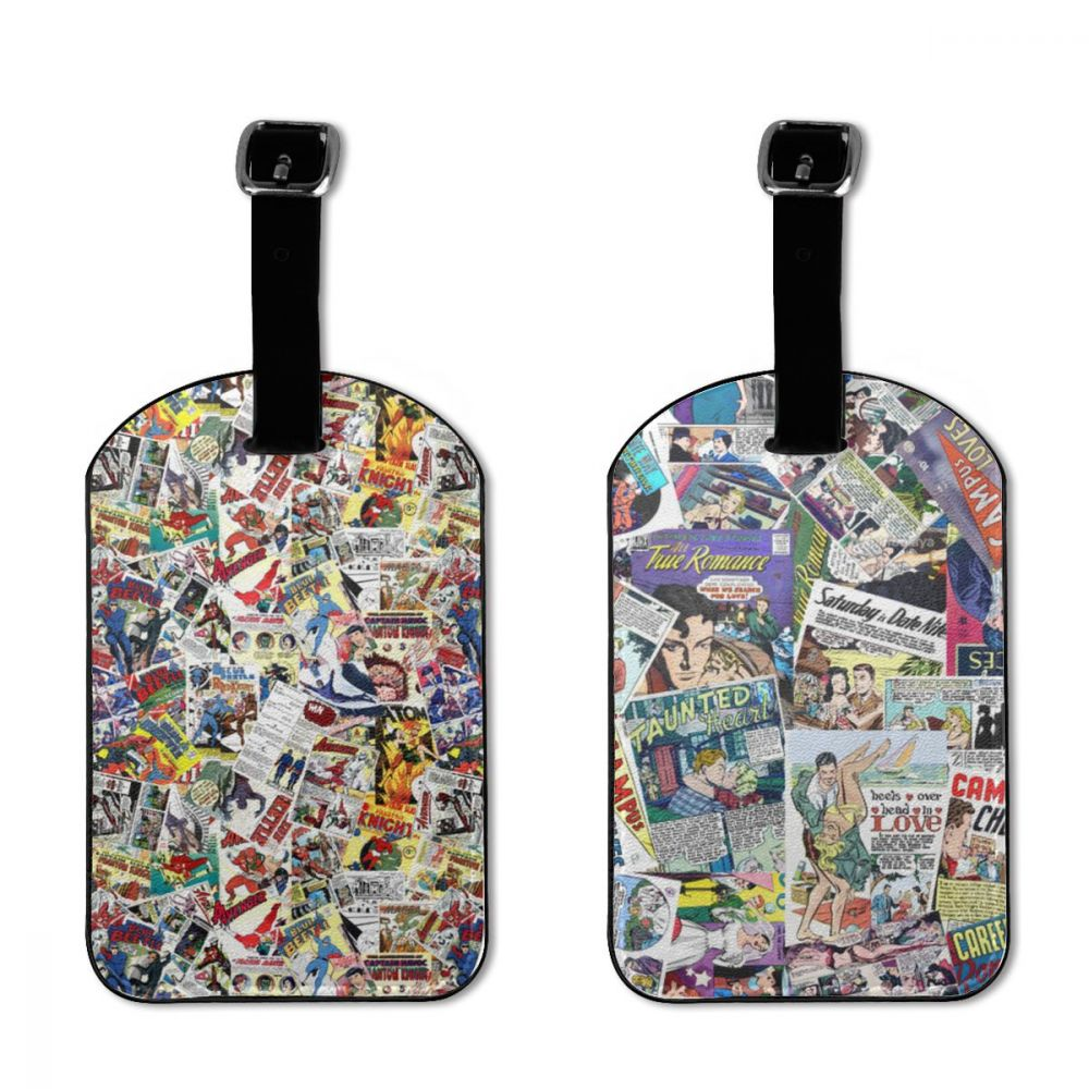 NOISYDESIGNS Travel Accessories Comic Book Heroes Printing Luggage Tag Suitcase ID Addres Holder Baggage Boarding Portable Label