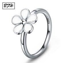 BFH новые модные женские обручальные кольца массивные кольца для женщин геометрический цветок серебряное обручальное кольцо любовь Винтажные Ювелирные Изделия
