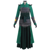 Hot moive Avatar The Last Airbender Kyoshi Warriorsm Cosplay Halloween Costume Custom Kimono Custom
