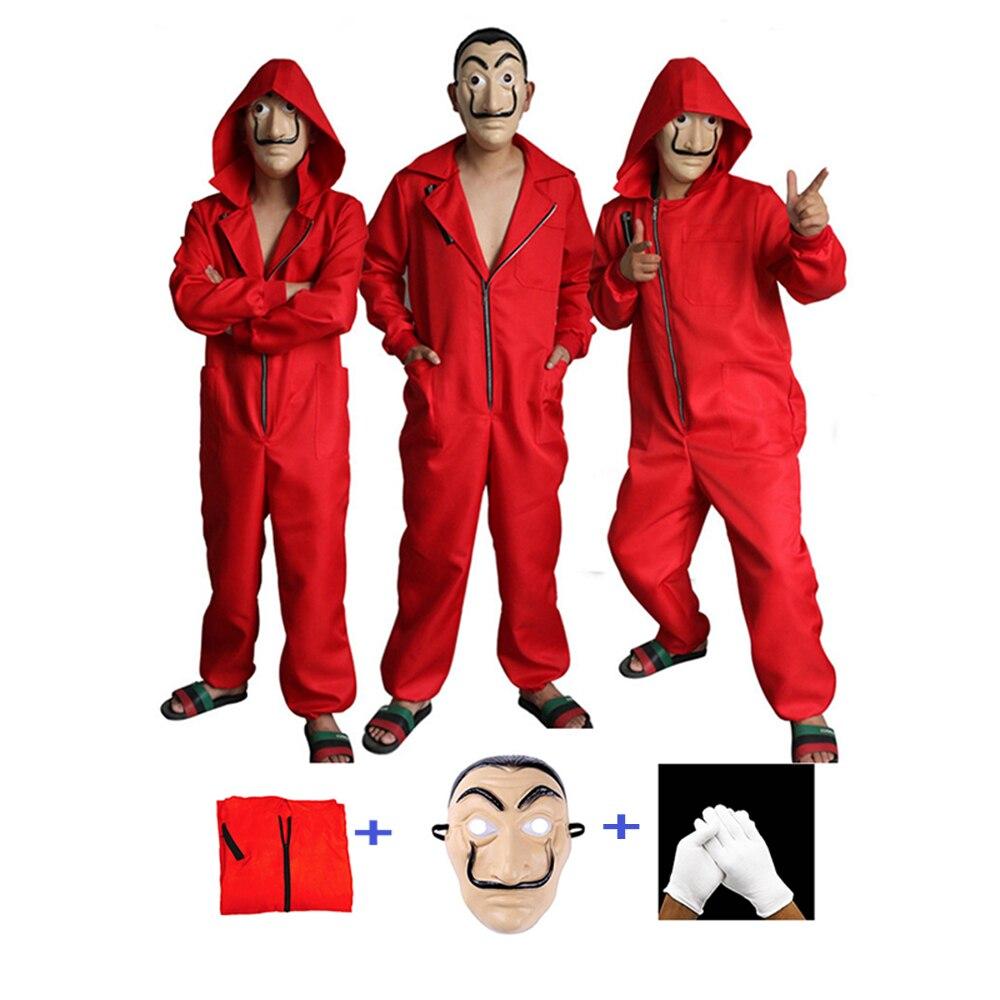 Salvador Dali film La maison du papier La Casa De Papel Cosplay Party Halloween masque argent Heist Costume & masque