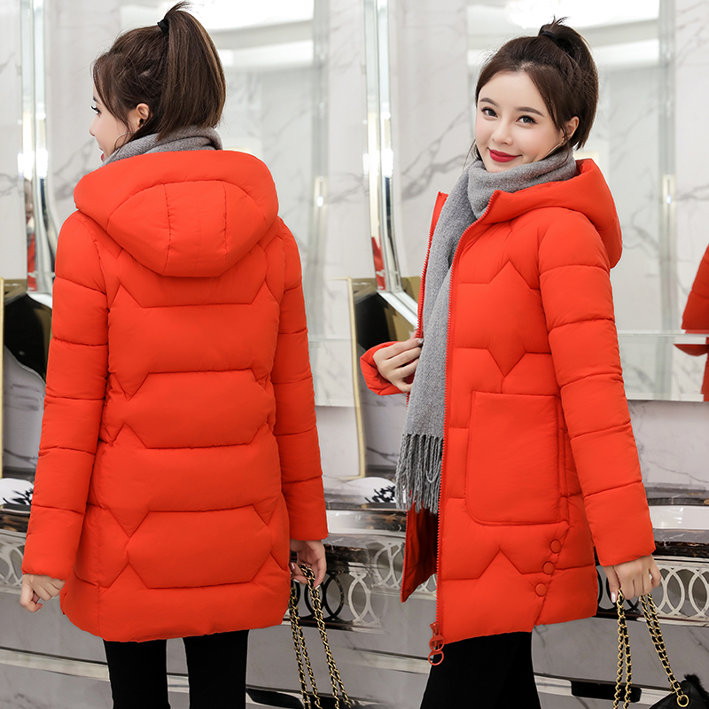 2020 Winter New Women Jacket Coats Slim   Parkas   Female Down cotton Hooded Overcoat Thick Warm Jackets Loose Casual Student Coat
