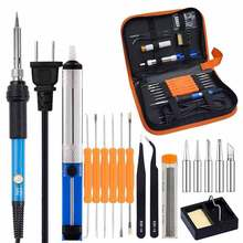 Adjustable temperature electric soldering iron set Multi-function electric soldering iron High temperature resistant handle
