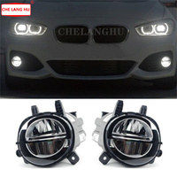 2pcs x Car Front LED Fog Light Fog Lamp DRL Driving Lamp For BMW F20 F21 F22 F23 F30 F31 F34 GT F35 LCI With LED Bulds