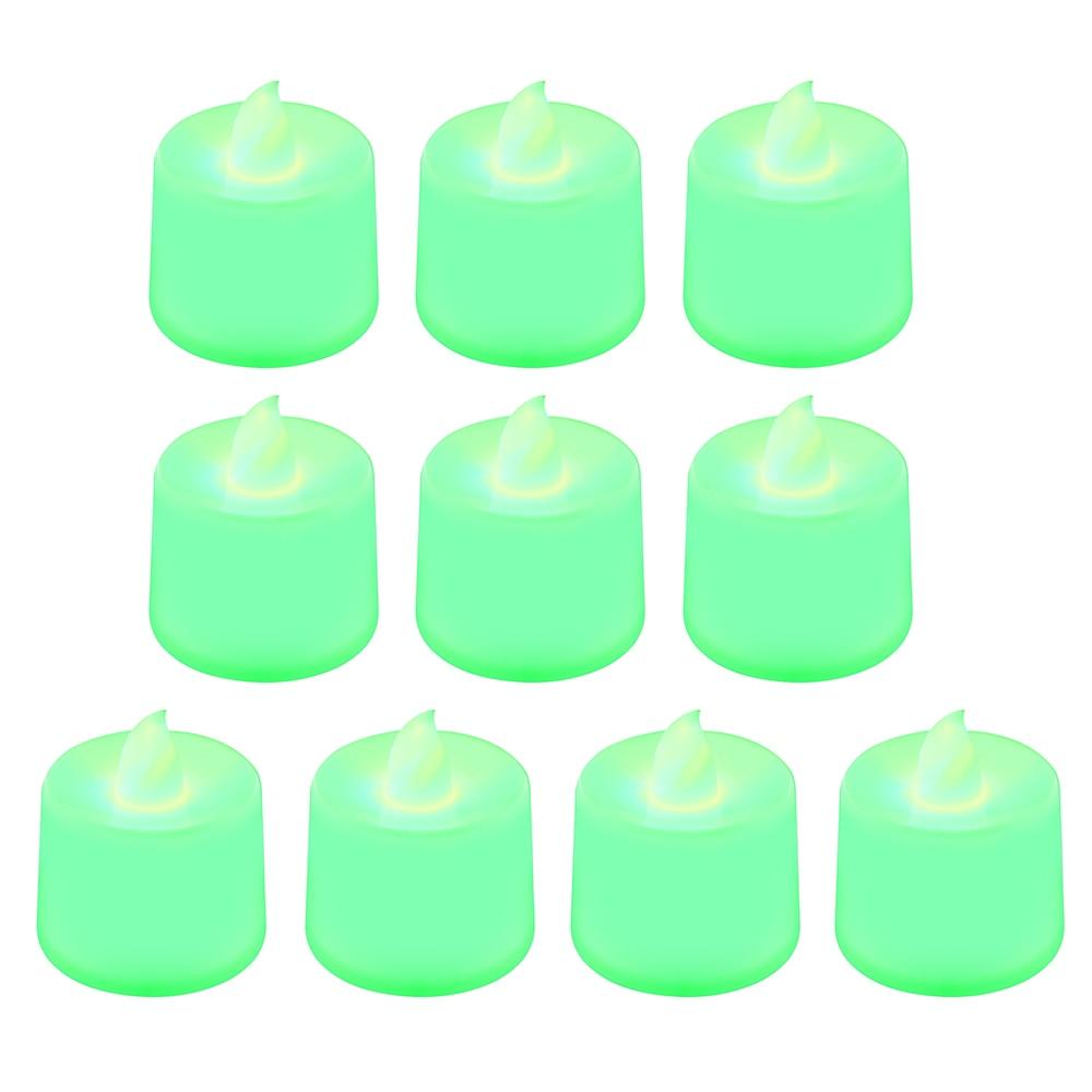 1 шт. Креативный светодиодный светильник-свеча, многоцветная Лампа, имитирующая цвет пламени, чайный светильник, украшение для дома, свадьбы, дня рождения, Прямая поставка - Цвет: green