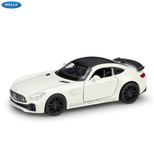 WELLY 1:36 Mercedes-AMG GTR simulation alloy car model machine Simulation Collection toy pull-back vehicle